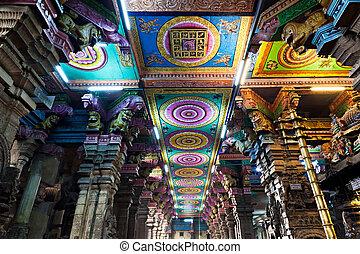 Inside Meenakshi temple