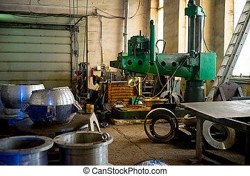 Inside modern factory