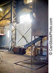 Inside modern factory - A view of the inside of a modern...