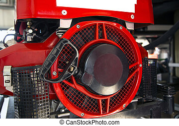 Inside of a fire truck