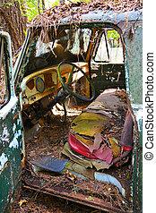 Inside of an Old Scrap Truck