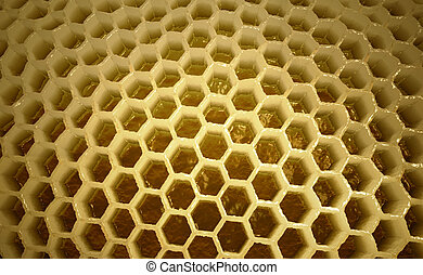 Inside of apiary - 3D illustration of honycombs inside of ...