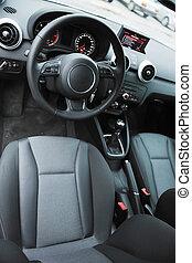 inside of brand new car