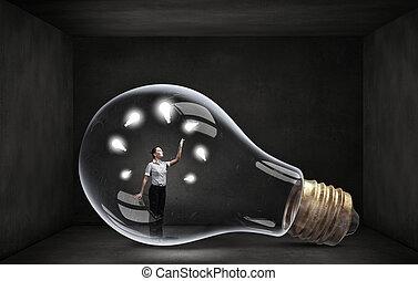Inside of bulb