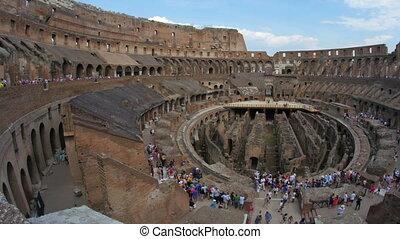 """""""inside of Colosseum, rome, italy, timelapse, 4k"""""""