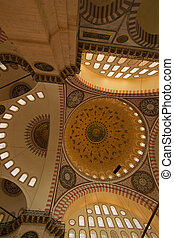 Inside of Istanbul Blue Mosque I - vertical position