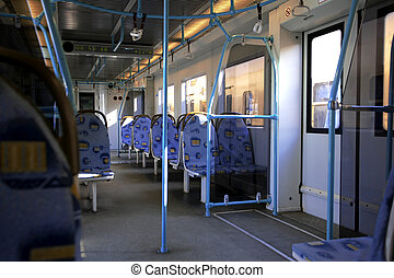 Inside of modern train