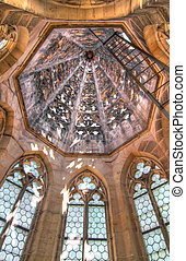 inside of the Gothic tower