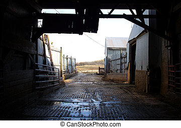 Inside Old Barn Corral Border