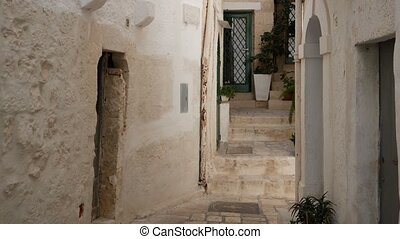 Inside old town of Polignano a Mare, Italy - Inside old town...