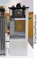 cross section of industrial battery