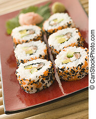 Inside-out Sushi Rolls