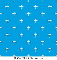 Inside out umbrella pattern seamless blue