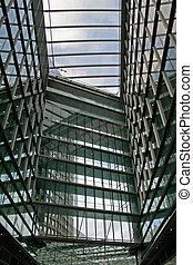 Inside skyscraper