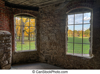 Inside Squire's Castle - View from inside looking out at...
