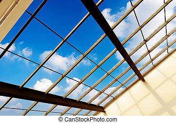 inside - Transparent glass ceiling subway station
