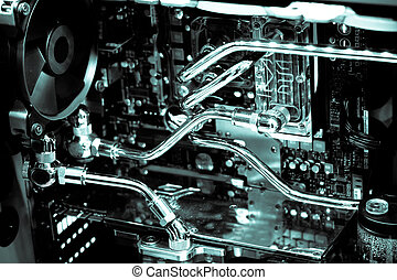 computer case modify - Inside the computer case modify