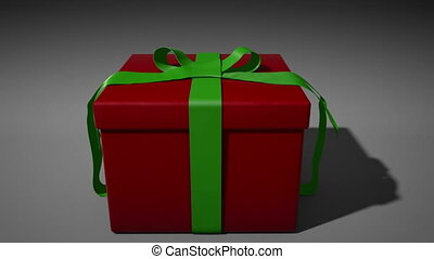 Inside the Gift - A 1080p HD Stock Video of a Present...