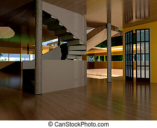 Inside the house - 3D