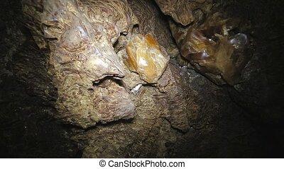 inside the karst cave of Ternopil