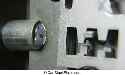 Inside the lock - Mechanism inside the lock