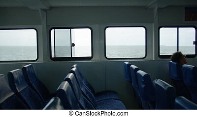 Inside the ship's boarding area - A shot from inside the...