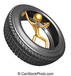 Inside Tire - 3D Concept And Presentation Figure