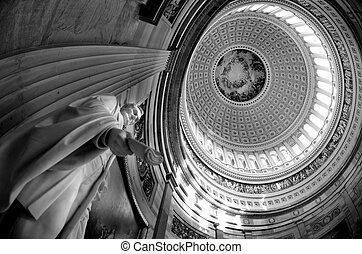 Inside US Capitol Dome - Inside of US Capitol Building with...