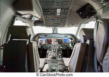 Inside view Cockpit G550