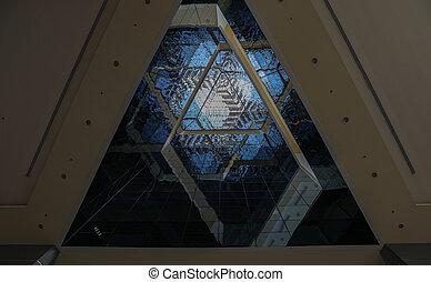 inside view of a triangular Building