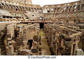 Coliseum - Inside view of the Roman Coliseum