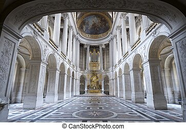 Versailles - inside view of the Royal Chapelle of Versailles...
