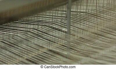 Inside Weaving Loom - Weaving a carpet on a loom