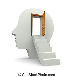 inside your mind - Stairs leading to the door which open...