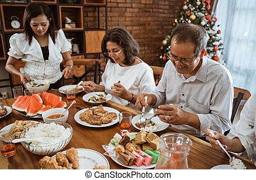insieme, giorno, tradizione, famiglia, detenere, natale, ...