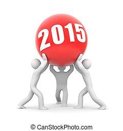 insieme, in, anno nuovo