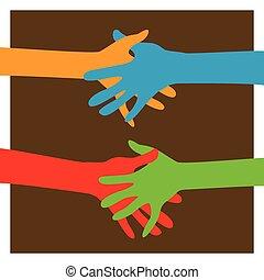 insieme, mani