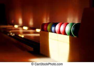 Insight into bowling hall prepared for the players.