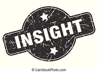insight round grunge isolated stamp