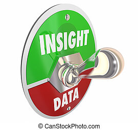 Insight Vs Data Toggle Switch Lever Intelligence 3d Illustration