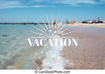 insigne, été, vacances plage, paysage