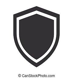 insigne, bouclier, protection virus, anti, sécurité