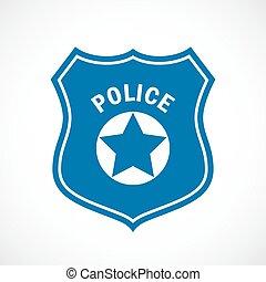 insigne police, icône officier