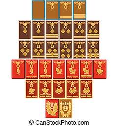 insigne, rangs, partie, nazi