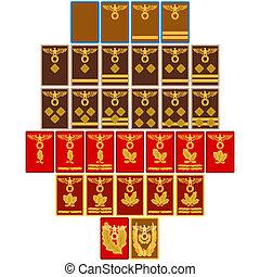 insigne, rangs, since, fête, 1939, nazi