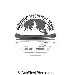 insignes, étiquettes, canoel, éléments, conception, logo