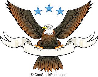 insignia, águia, calvo