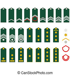 Insignia Belgian Army - Epaulets, military ranks and...