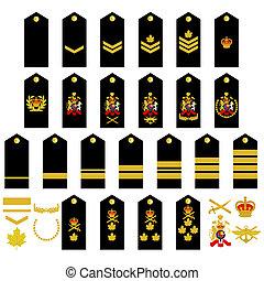 insignia, canadiense, ejército