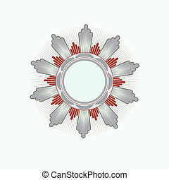 Insignia - star shaped . Blank so you can add your own...
